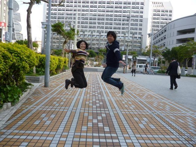 青山祐企さんとジャンプ写真